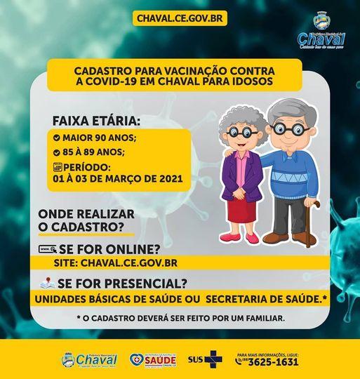 Prefeitura de Chaval realiza cadastro de idosos para vacinação contra Covid-19
