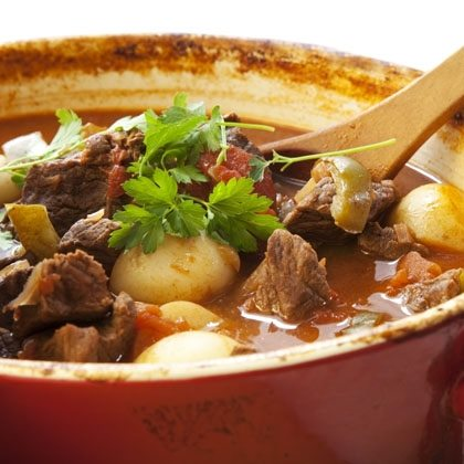 Bacon, Mushroom and Beef Stew