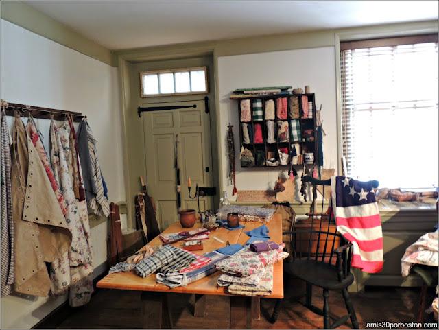 Taller de Costura en la Casa Museo de Betsy Ross en Filadelfia