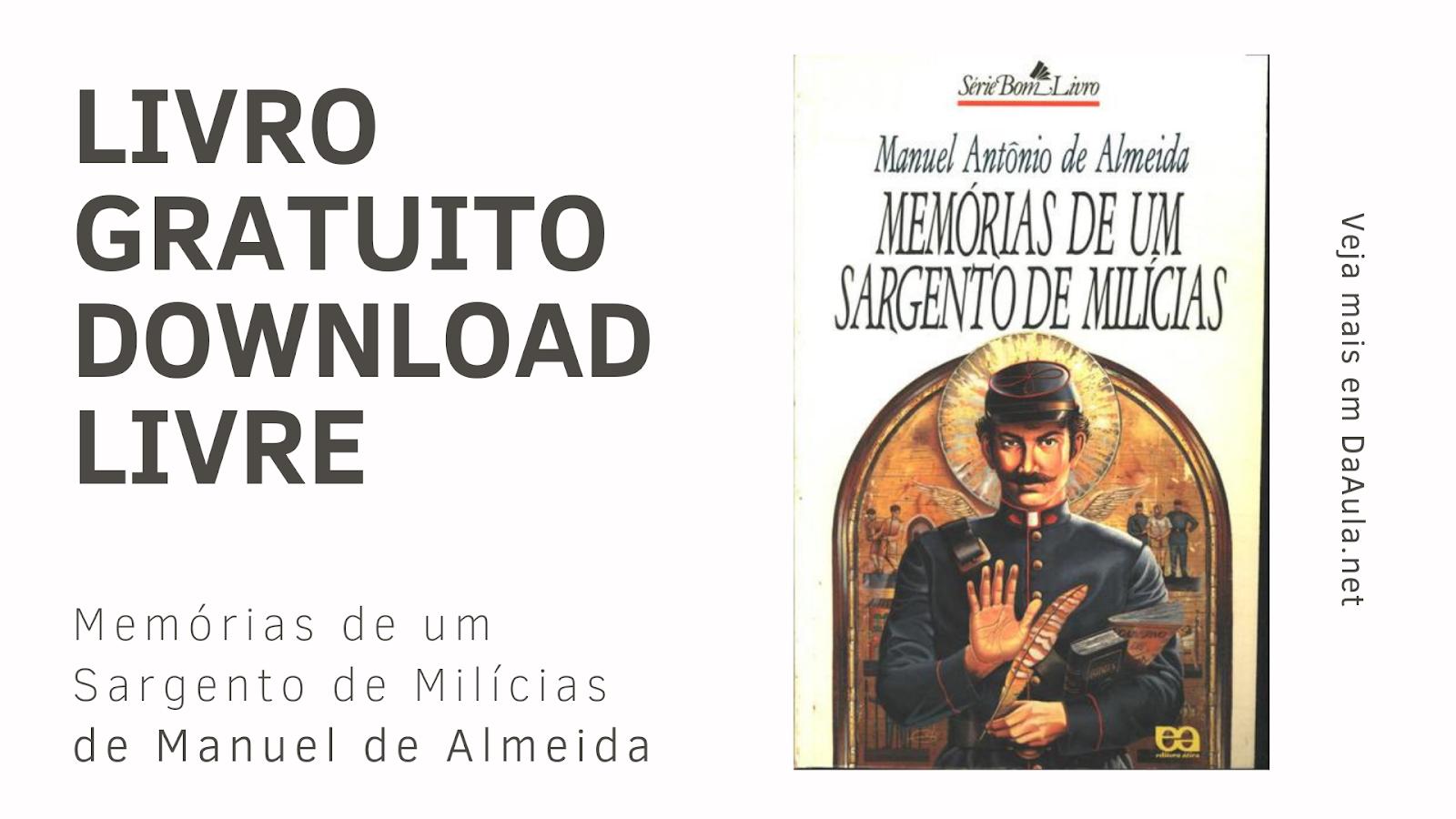 Livro: Memórias de um Sargento de Milícias de Manuel de Almeida