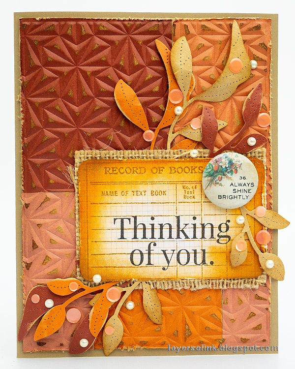Layers of ink - Dry embossed color blocks card tutorial by Anna-Karin Evaldsson.