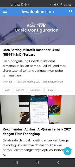 LewatOnline.com website blog