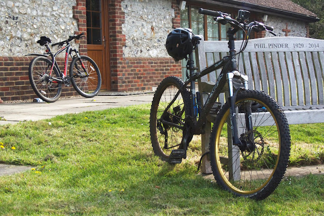 both bikes at the churchyard