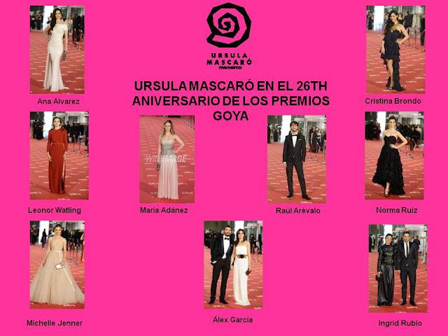 Los Goya 2012. Las celebrities seducidas por Ursula Mascaró.