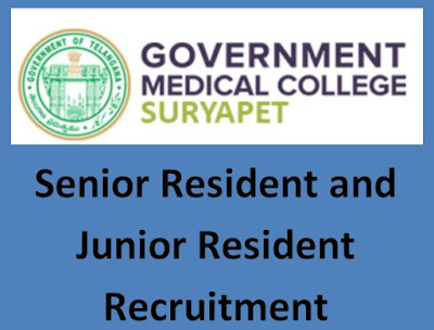 GMC Suryapet Notification 2019 – Senior Resident and Junior Resident
