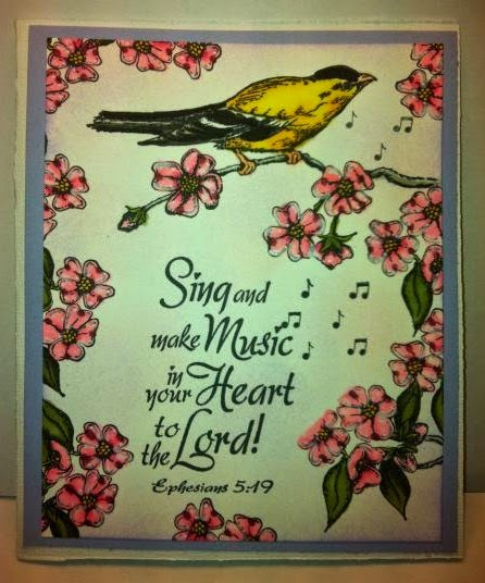 ODBD Sing to the Lord, Customer Card of the Day Kim D