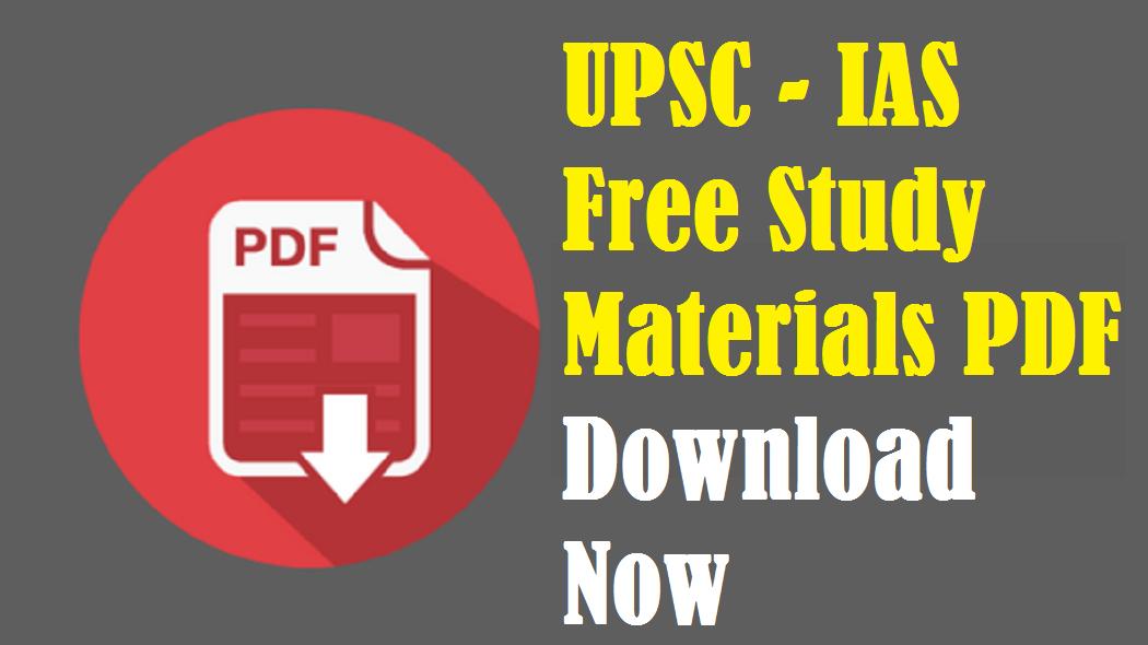 Upsc ias study materials notes free pdf download winmeen.