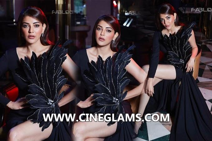 Kajal aggarwal Beauty in black photoshoot