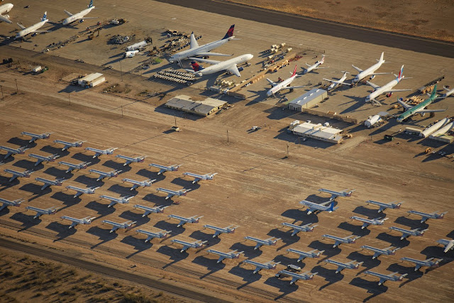 Photographer Jassen Todorov took pictures of  Covid lockdown hitting the airline industry