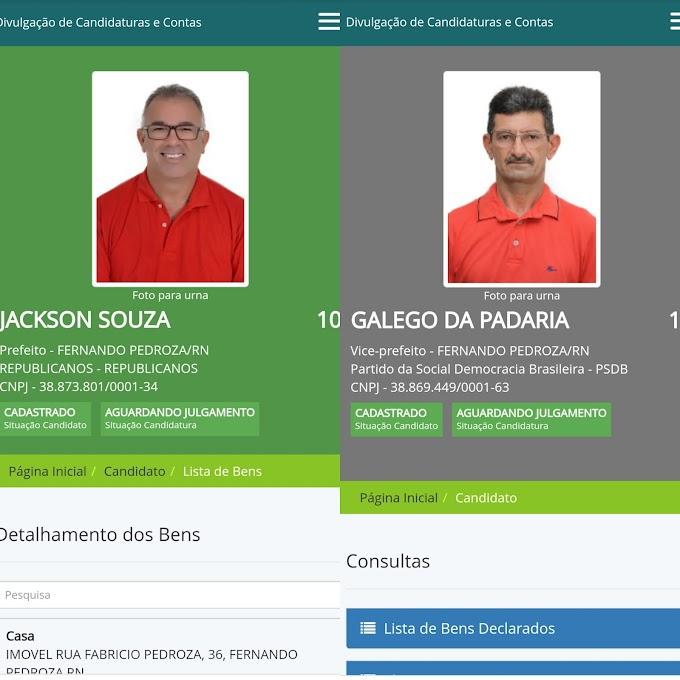 Jackson Souza e Galego da Padaria são os primeiros a pedirem registro de candidatura no site do TSE