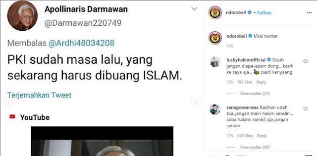 Diduga Hina Islam, Anton Tabah: Tindakan Apollinaris Darmawan Berat Dan Tingkat Keresahannya Sangat Tinggi