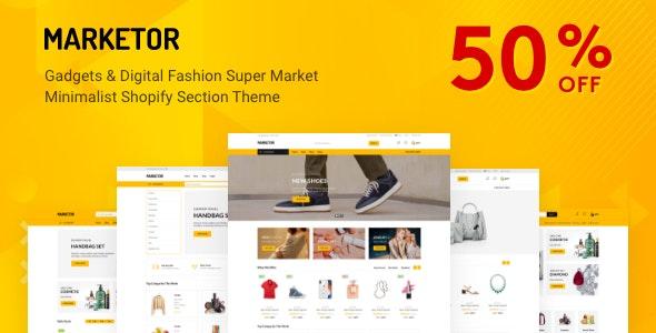 Marketor - Multipurpose Responsive Shopify Theme