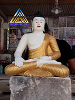 Kerajinan batu alam, arca / patung budha dibuat dari batu putih