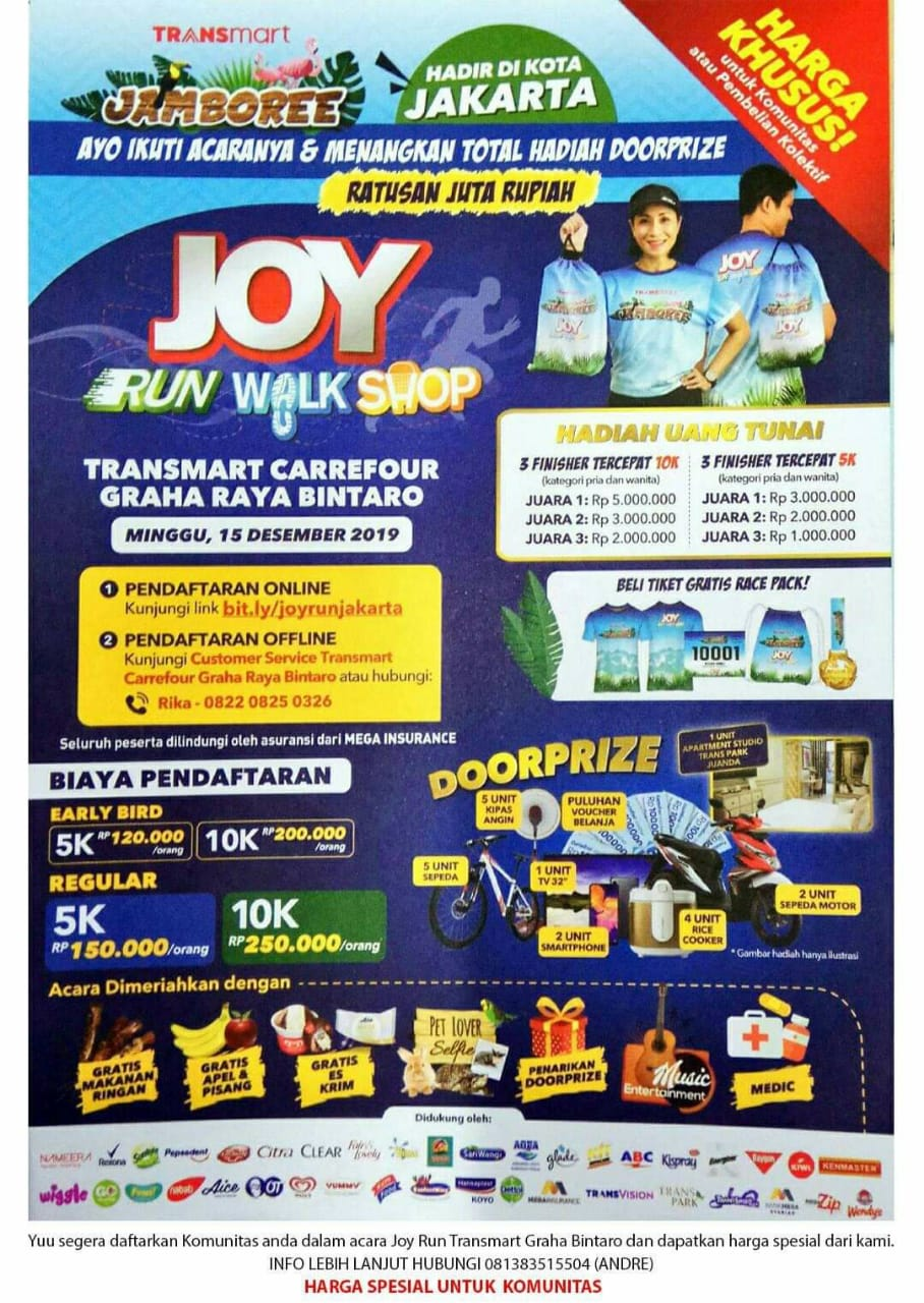 Joy: Run Walk Shop - Transmart Carrefour Graha Raya Bintaro • 2019