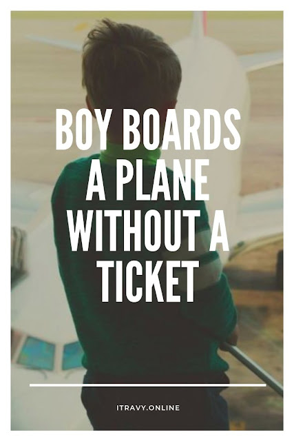 Boy boards a Plane without a Ticket