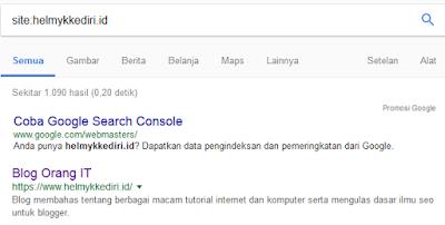 menggunakan operator pencarian googleo