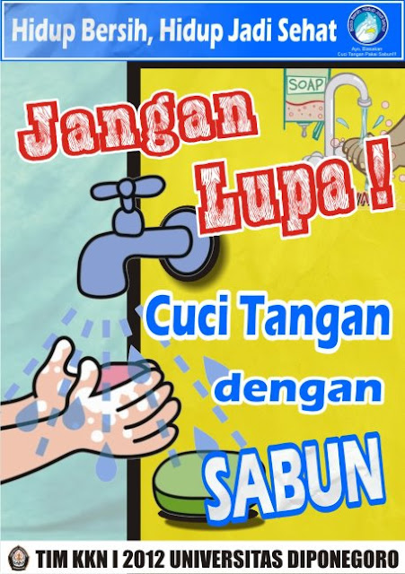 Contoh poster pendidikan kebersihan. Sumber: internet