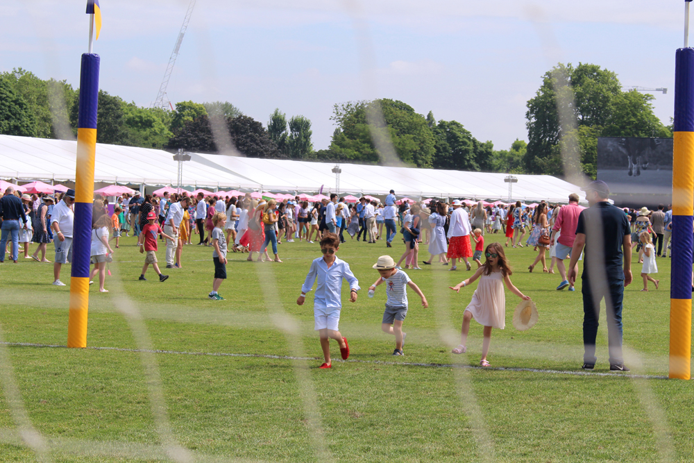Pitch invasion at Polo in the Park 2018 - London lifestyle blog