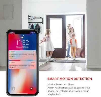 Indoor Security Camera Motion Detection Night Vision