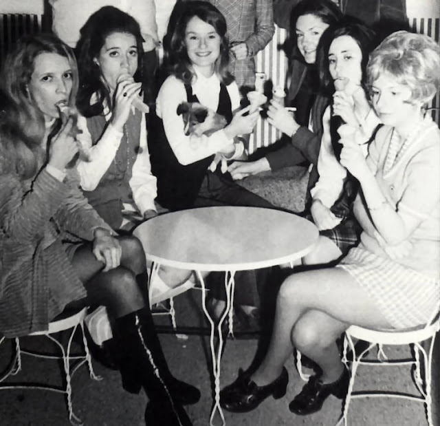 Vintage Photos of Mini Skirts in Dining ~ vintage everyday
