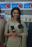 Rakul Preet Singh in a Designer saree at Launch of BIG C Show room at  Kurnool ~ Celebrities Galleries 014.jpg