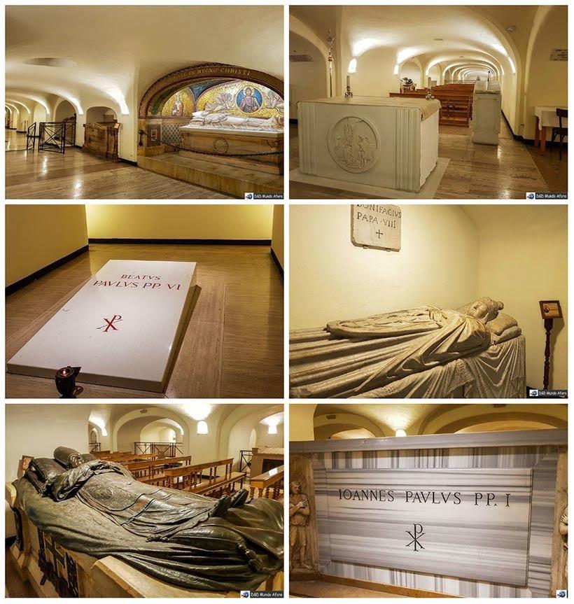 Cripta dos papas abaixo da Basílica São Pedro - Diário de Bordo: 3 dias em Roma