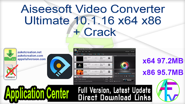 Aiseesoft Video Converter Ultimate 10.1.16 x64 x86 + Crack