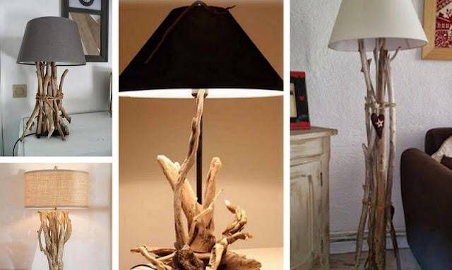 DIY Εύκολα Φωτιστικά από Θαλασσόξυλα