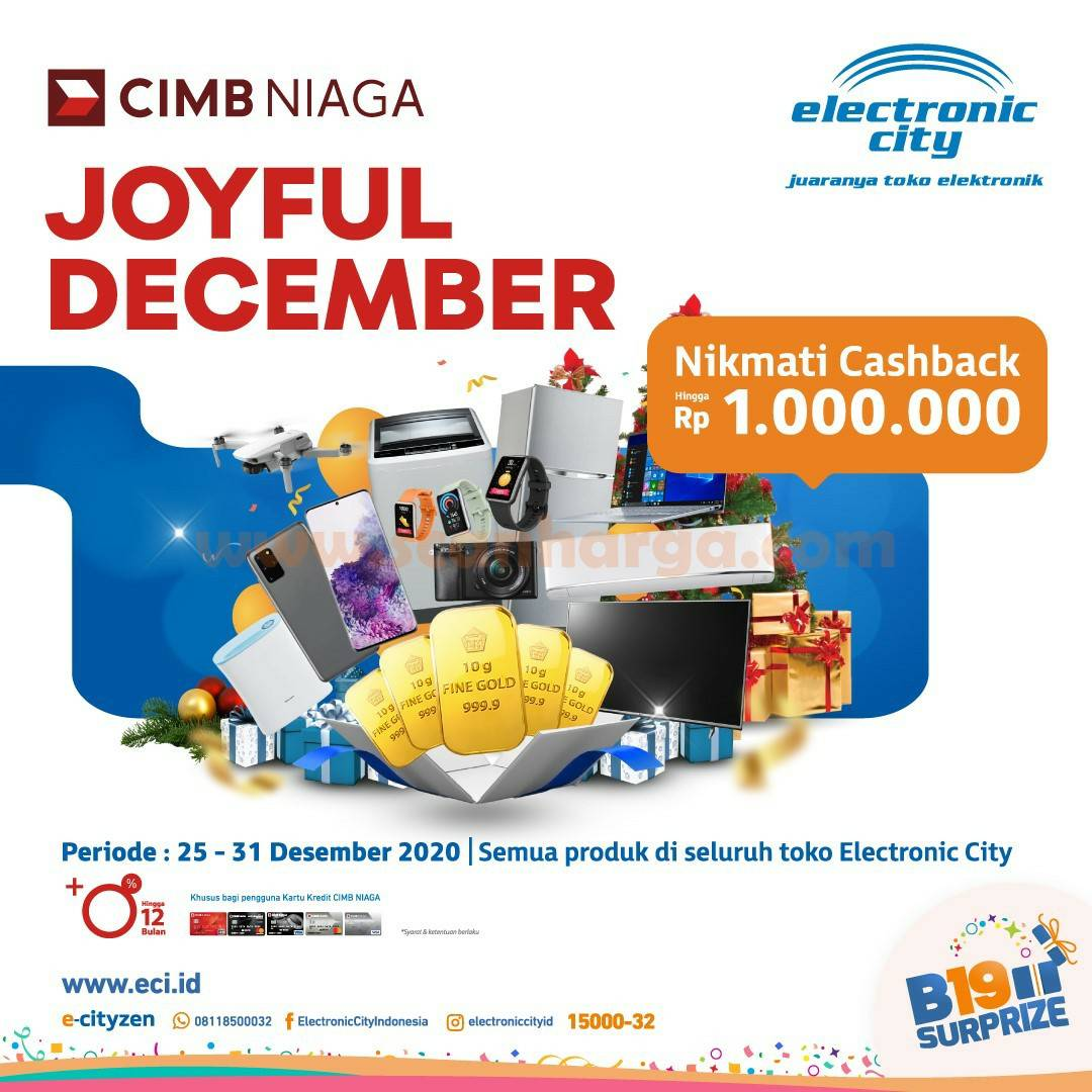 Electronic City Promo Cashback Rp 1.jt dengan Kartu Kredit CIMB Niaga