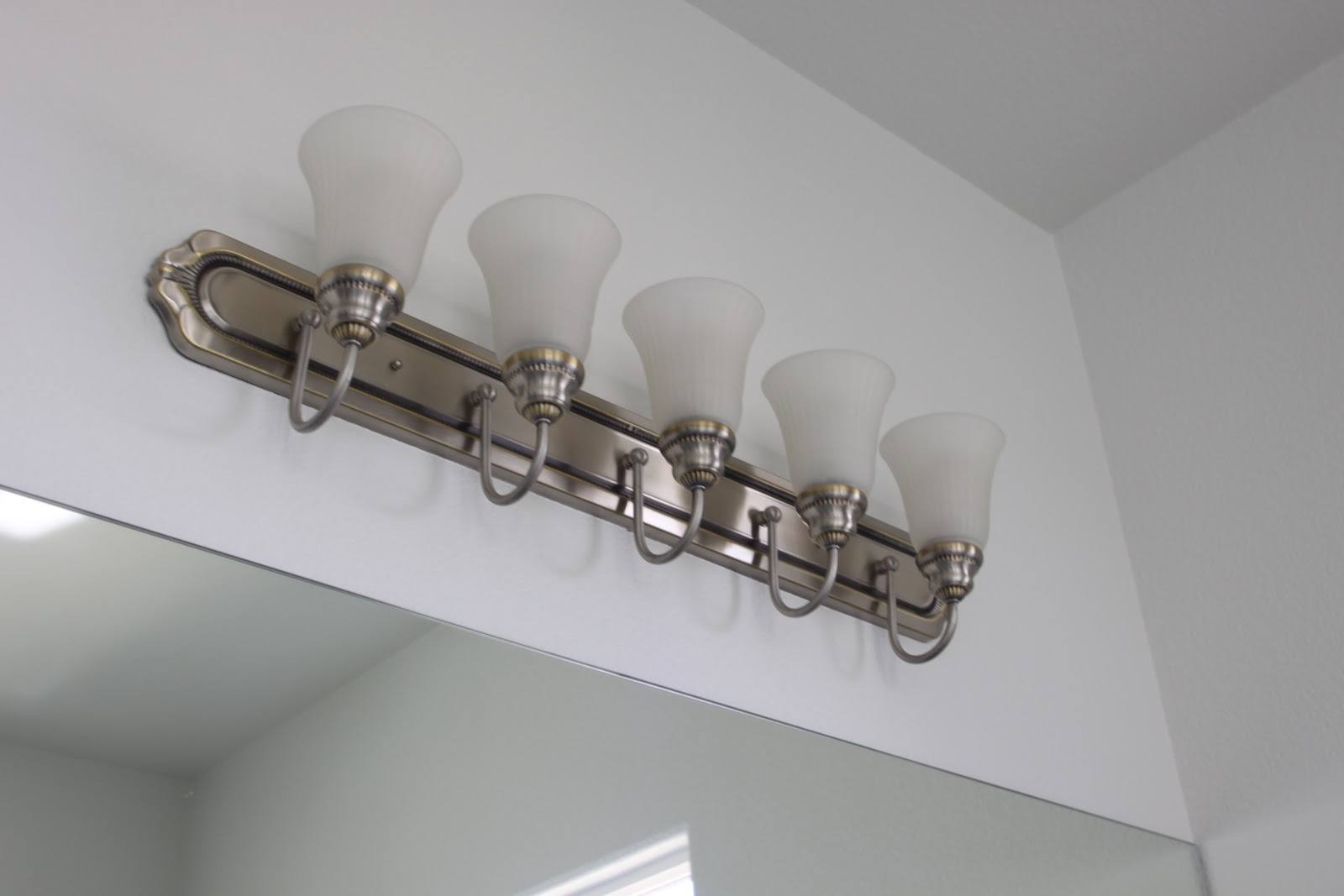 Spray Painting Bathroom Light Fixture