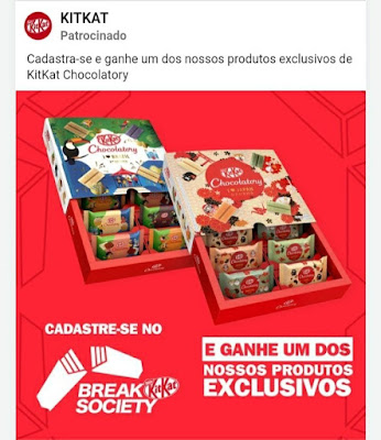 GRÁTIS Ganhe um KitKat Chocolatory