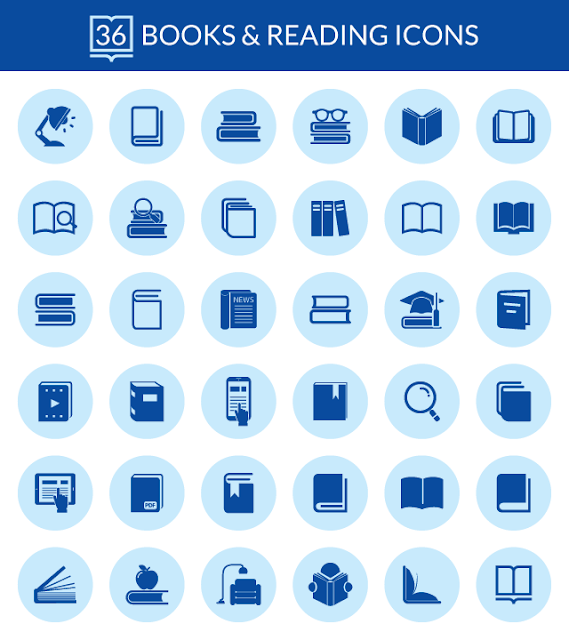 36 Books and Reading Icons for Web & Mobile For Free Download: Freebies