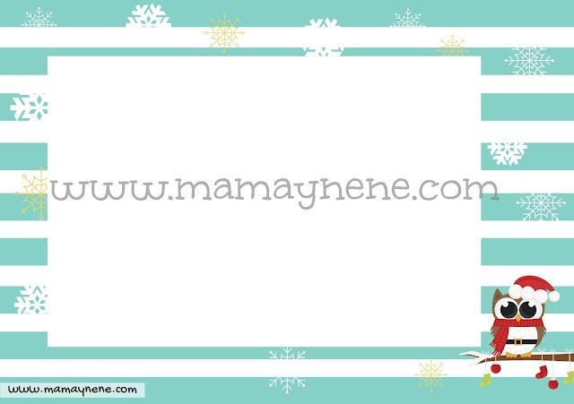 FREEBIES-NAVIDAD-CHRISTMAS-MAMAYNENE-OWL