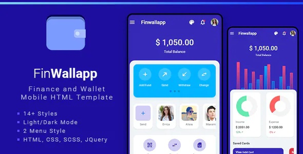 Best Finance and Wallet Mobile HTML template