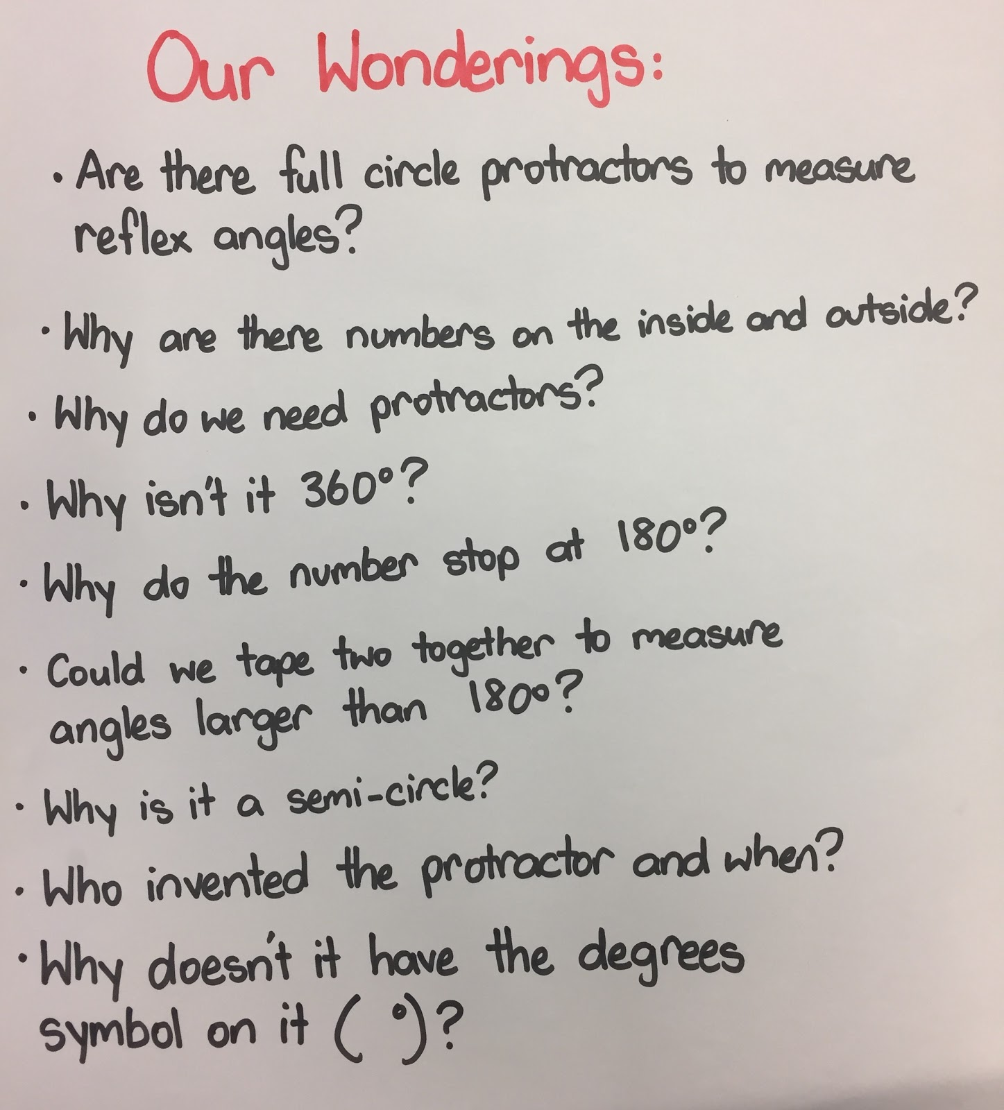Enquiry Based Maths Form What Are Protractors Like