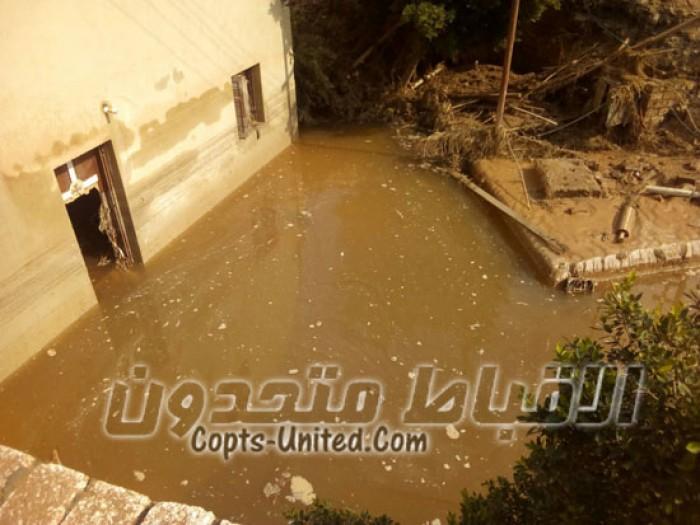 بالصور وكيل مطرانية منفلوط يكشف حجم خسائر السيول بدير الأمير تادرس الشطبى ببني شقير