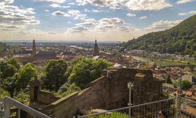 Almanya Heidelberg şehir manzarası...
