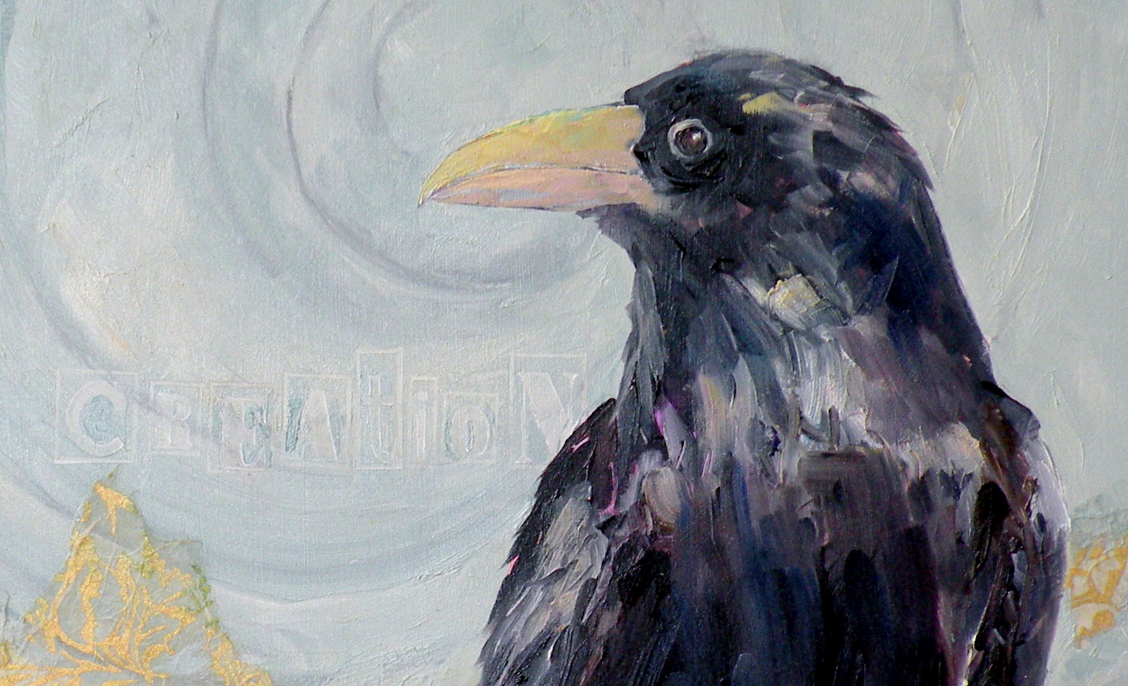 Art for life creation a raven original mixed media painting the raven is filled with symbolism from all cultures most think the symbolism revolves around death and the occult this is absolutely not true buycottarizona