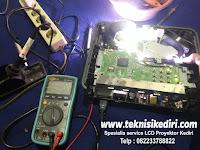 Service LCD Proyektor / DLP Projector Benq MS501+ Kerusakan Mati Total