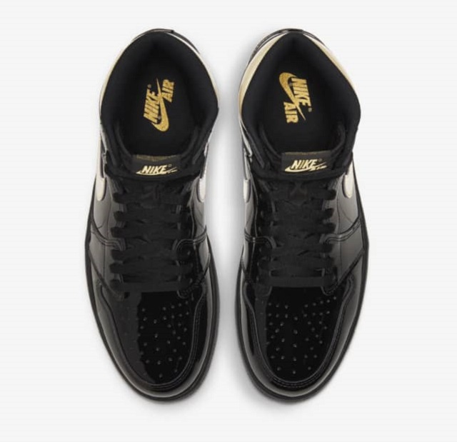 Air Jordan Black Metallic Gold Design