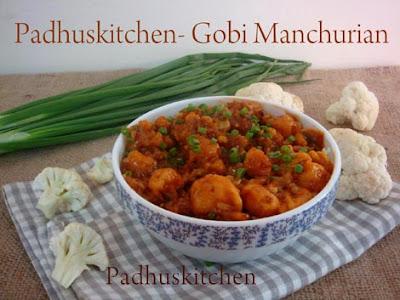 Gobi Manchurian gravy-Cauliflower Manchurian