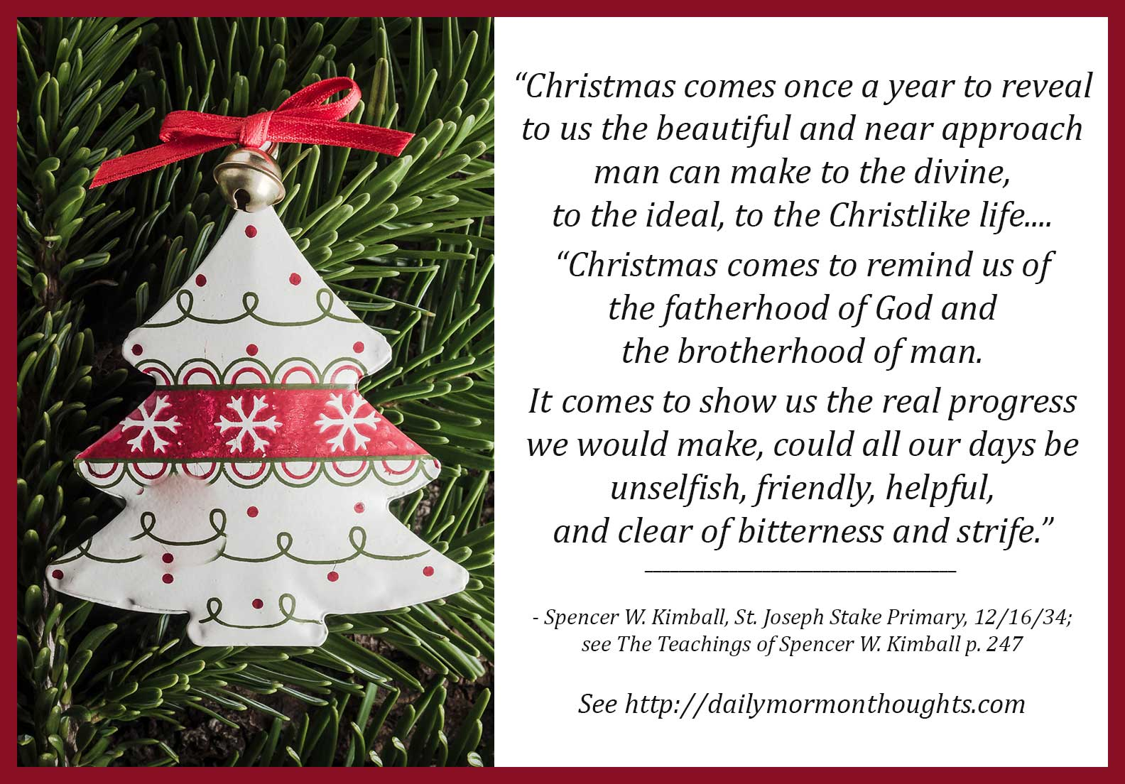 Daily Thought from LDS Leaders: President Spencer W. Kimball on the ...