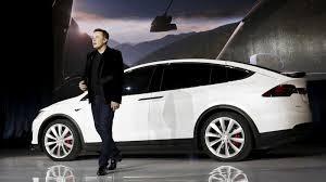 Tesla Motor Car with Musk on it
