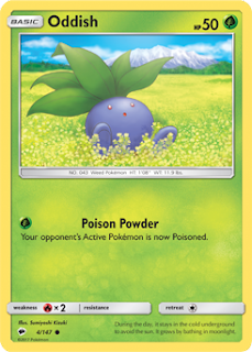 Oddish Burning Shadows Pokemon Card