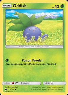 Oddish Burning Shadows Pokemon Card