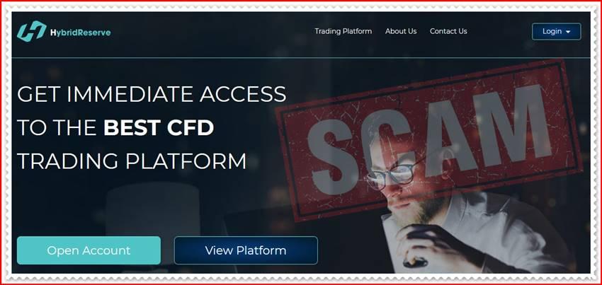 Мошеннический сайт hybridreserve.com – Отзывы? Брокер HybridReserve мошенники! Информация