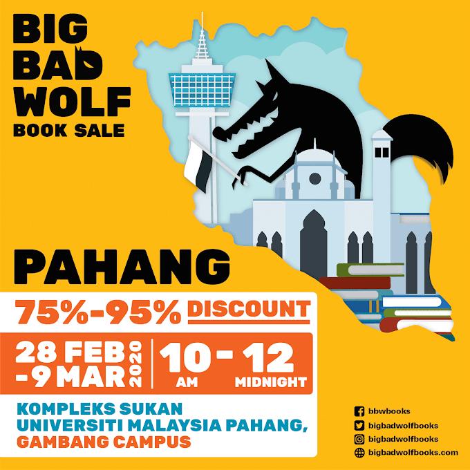 Jualan Buku Big Bad Wolf Pahang 2020 Kini Kembali