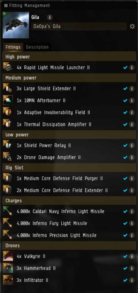 EVE Online Mission: Gila Tier 3 and lower Abyssal Deadspace Fit