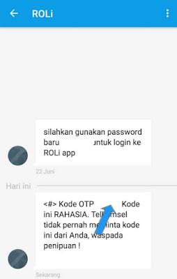 Kode verifikasi Telkomsel RoLi