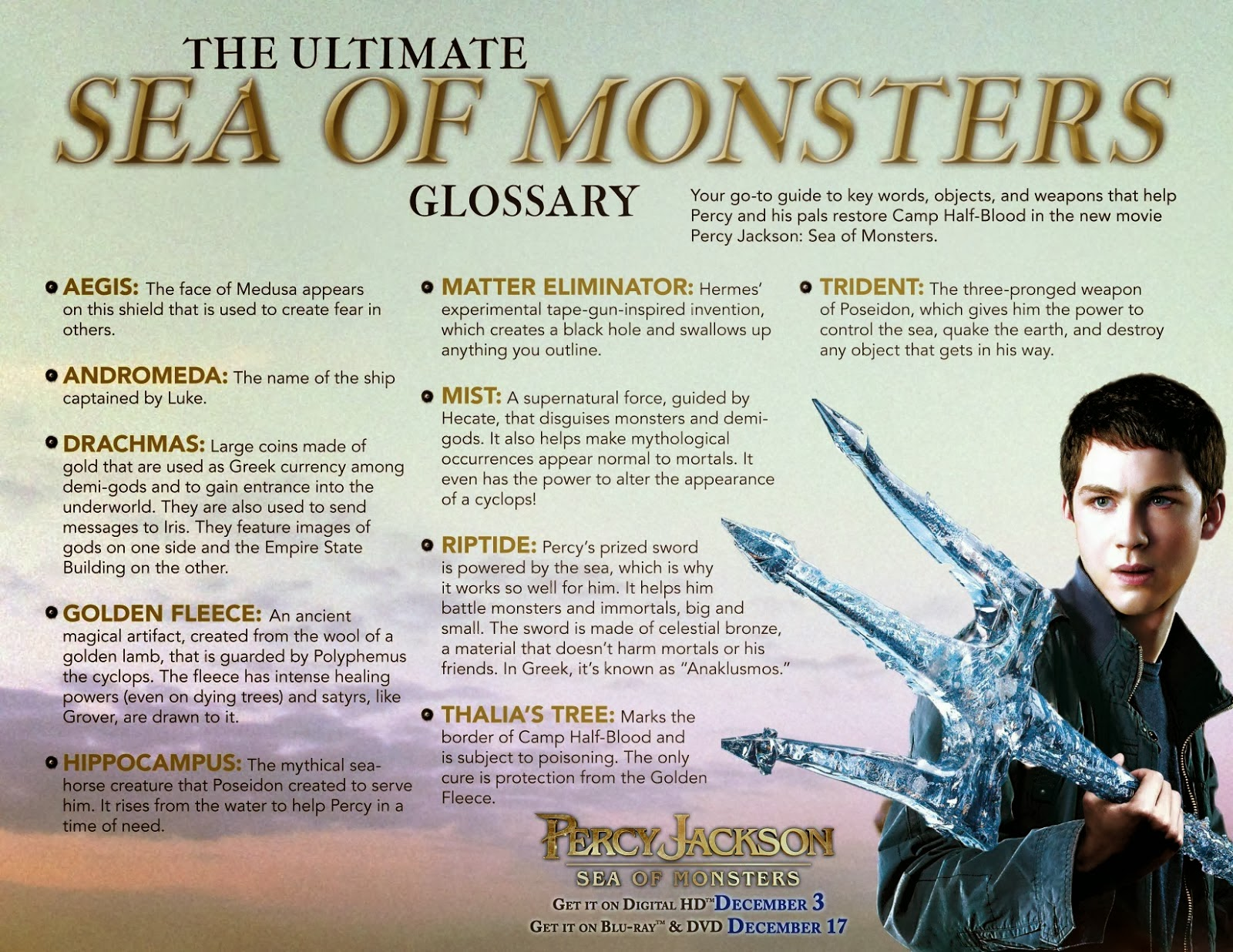 Susan S Disney Family Percy Jackson Sea Of Monsters Blu